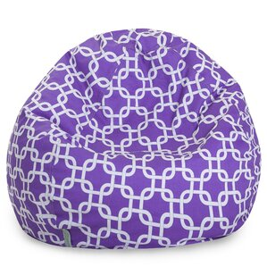 Brayden Studio Danko Geometric Bean Bag Chair