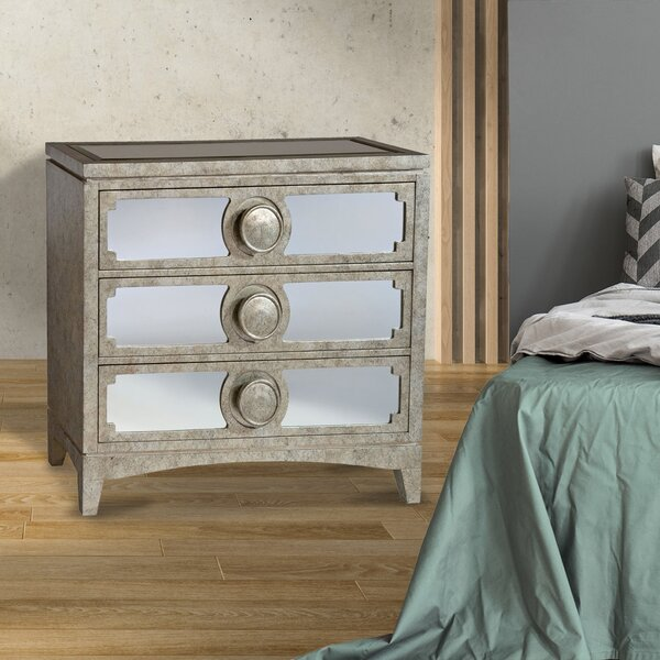Simon 3 Drawer Dresser by Rosdorf Park