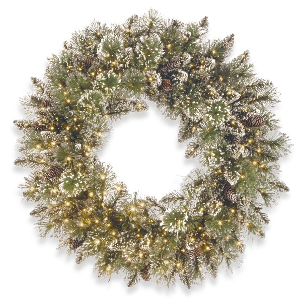 24 Lighted Pine Wreath by Rosdorf Park