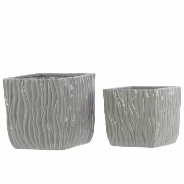 Senoia 2 Piece Ceramic Pot Planter Set by Latitude Run