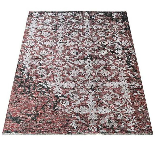 Rackers Sumak Hand-Knotted Pink/White Area Rug by World Menagerie