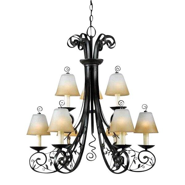 Splendora 9 - Light Shaded Tiered Chandelier By Fleur De Lis Living