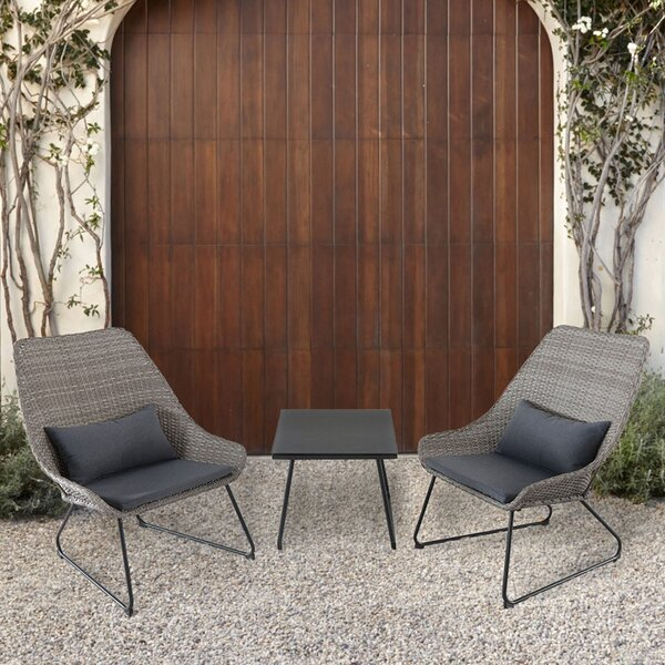 Balentine 3 Piece Conversation Set with Cushions by Wrought Studio