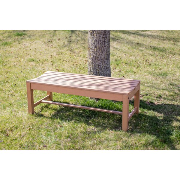 Bernard Composite Wood Outdoor Backless Picnic Bench by Millwood Pines