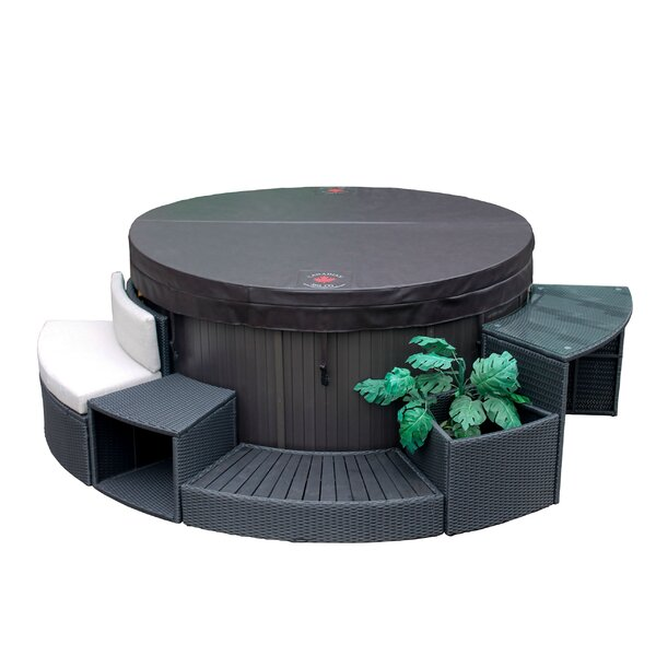 Round Spa Surround Furniture 5 Piece Set by Canadian Spa Co