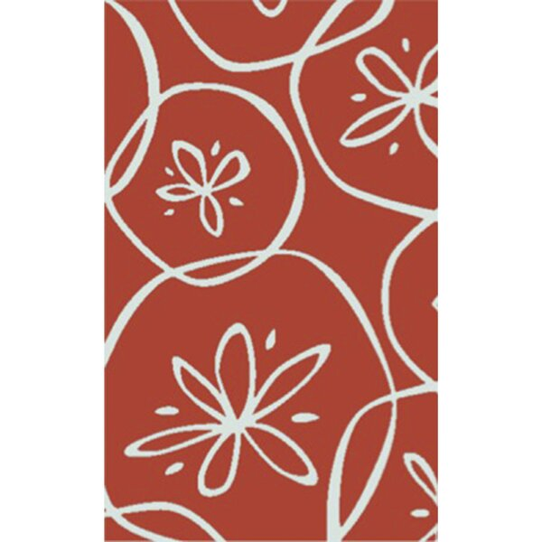 Charlestown Hand-Tufted Bright Orange/Ivory Area Rug by Highland Dunes