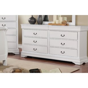 Hinrichs Transitional 6 Drawer Double Dresser by Charlton Home