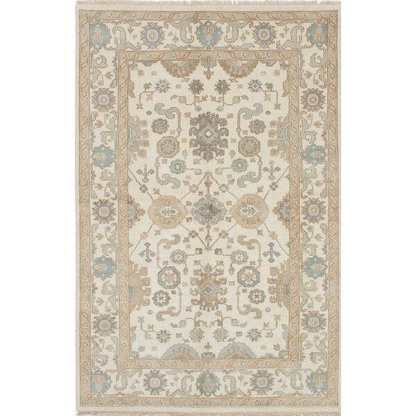 One-of-a-Kind Doggett Handmade Ivory Area Rug by Isabelline