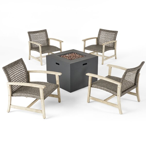 Valor Outdoor 5 Piece Multiple Chairs Seating Group by Bay Isle Home