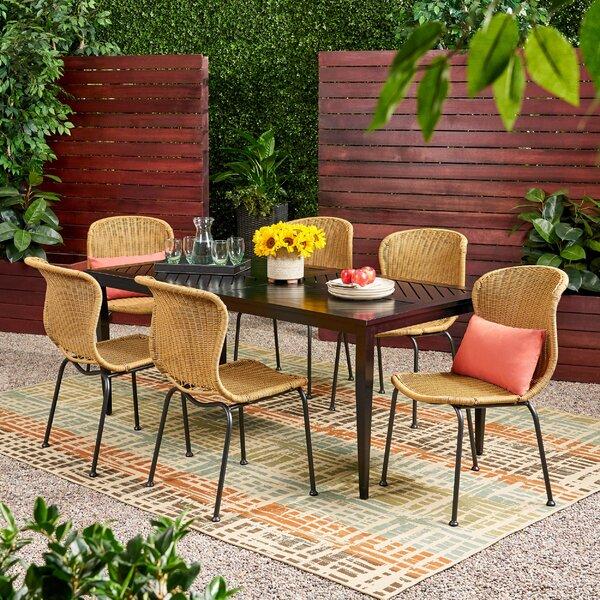 Aitken Outdoor 6 Piece Dining Set