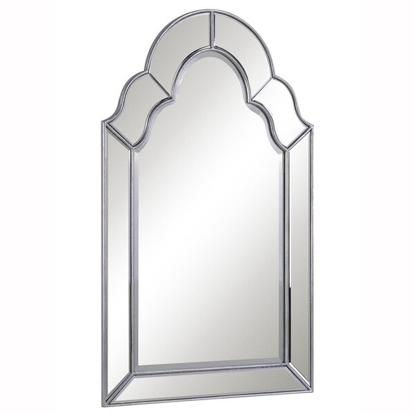 Traditional Silver Arch/Crowned top Wall Mirror by Darby Home Co
