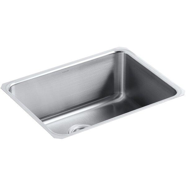 Undertone Preserve 23 L x 17-1/2 W 9-13/16 Medium Under-Mount Single-Bowl Kitchen Sink by Kohler