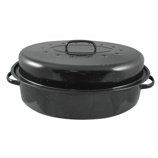18 Non-Stick Roaster Pan with Lid by Home Basics
