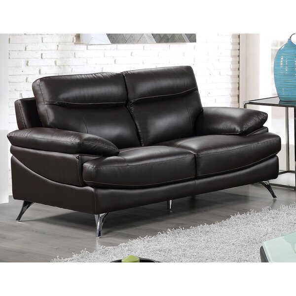 Premium Shop Leather Loveseat by Best Quality Furniture by Best Quality Furniture