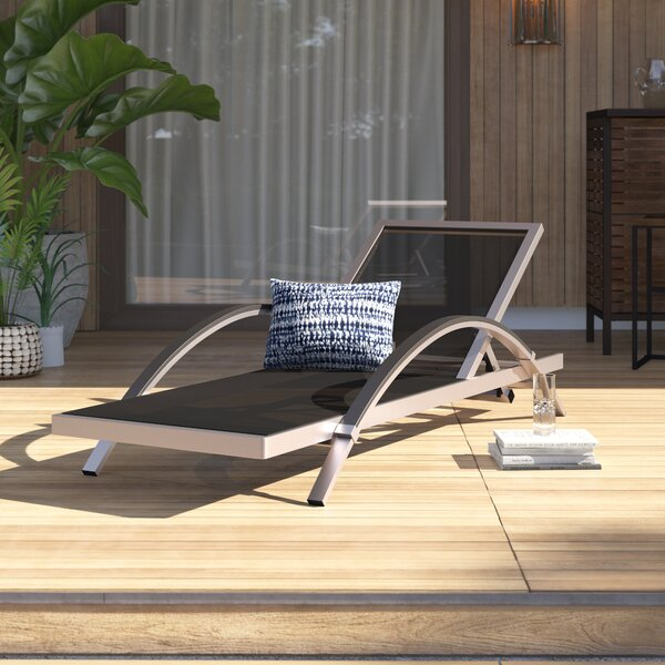 Lehman Reclining Chaise Lounge with Cushion by Mercury Row Mercury Row