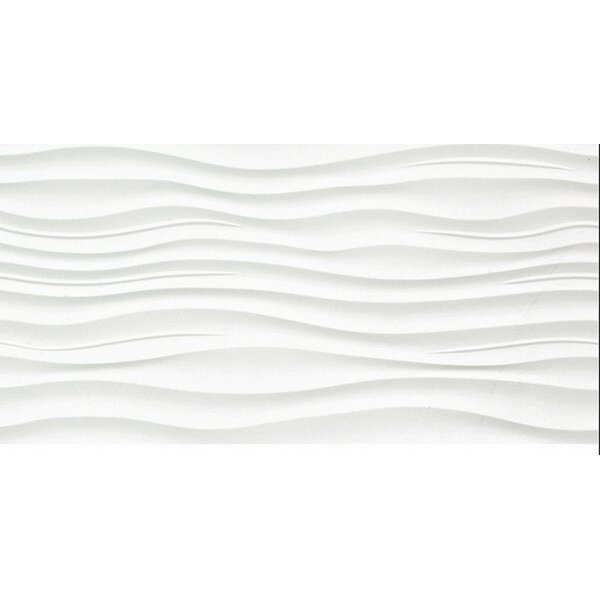 Surface 12 x 24 Porcelain Tile in Ripple White by Emser Tile