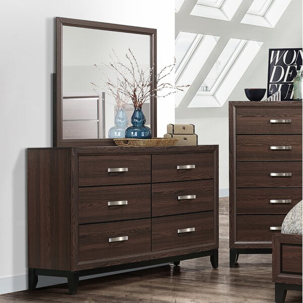 Tessa 6 Drawer Double Dresser by Wrought Studio