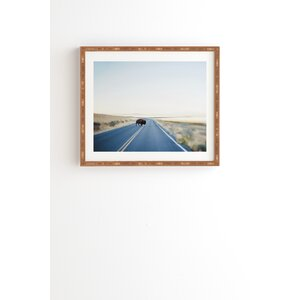 Buffalo Crossing Framed Photographic Print by East Urban Home