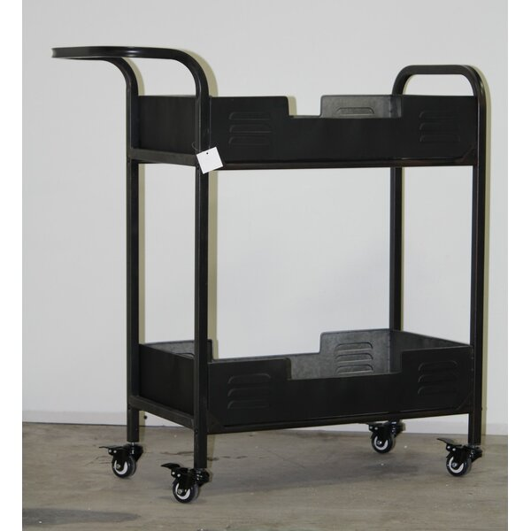 Brower Industrial Metal Bar Cart by Williston Forge Williston Forge