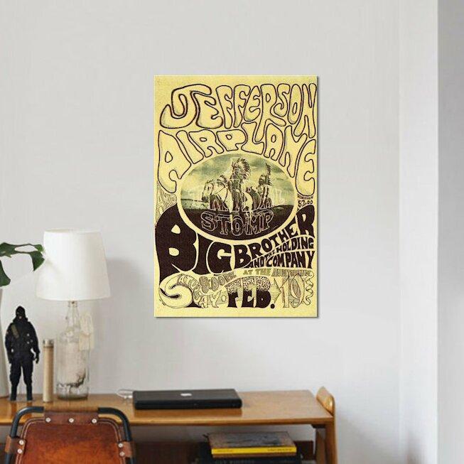 East Urban Home \'Fillmore Auditorium Concert Poster (Tribal Stomp ...