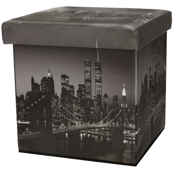 Brooklyn Bridge Storage Ottoman by Oriental Furniture