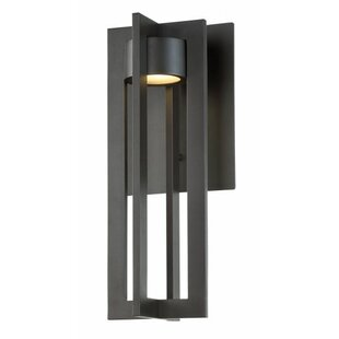 Best Reviews Mootrey 16 1 Light LED Outdoor Sconce By Red Barrel Studio