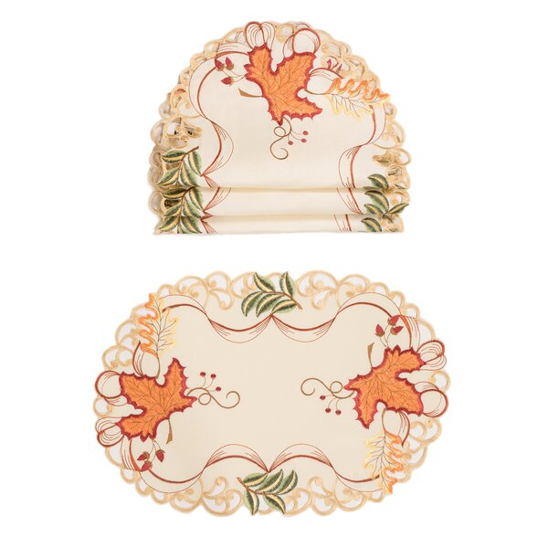 Scott Falling Leaves 19 Placemat (Set of 4) by August Grove