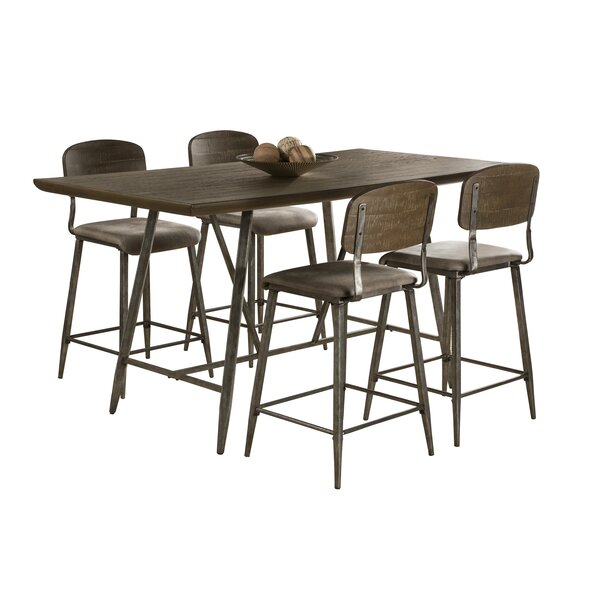Georgia 5 Piece Counter Height Dining Set by 17 Stories