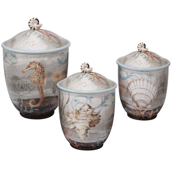 Adler 3 Piece Storage Jar Set by Beachcrest Home