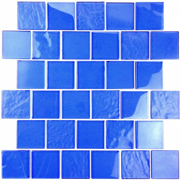 Landscape 2 x 2 Glass Mosaic Tile in Blue by Abolos