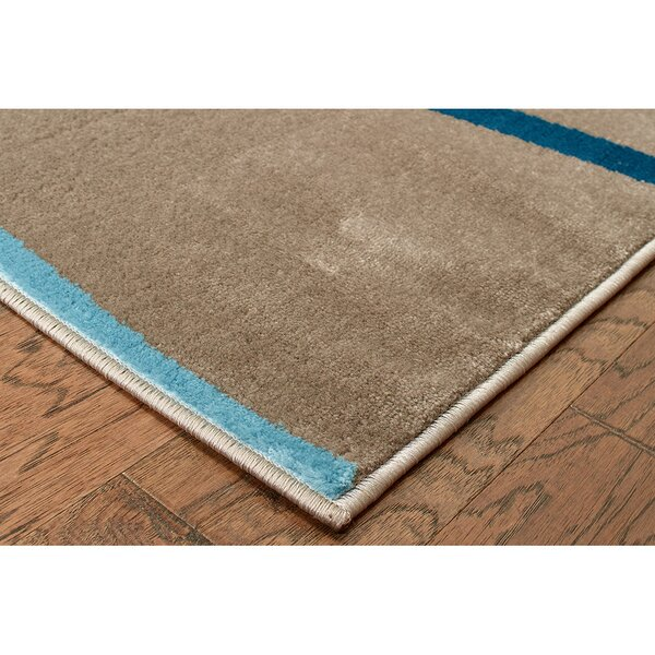 Browning Taupe Area Rug by Ebern Designs