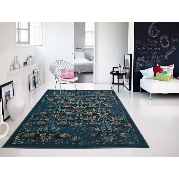 Willowick Navy Blue Area Rug by Bloomsbury Market