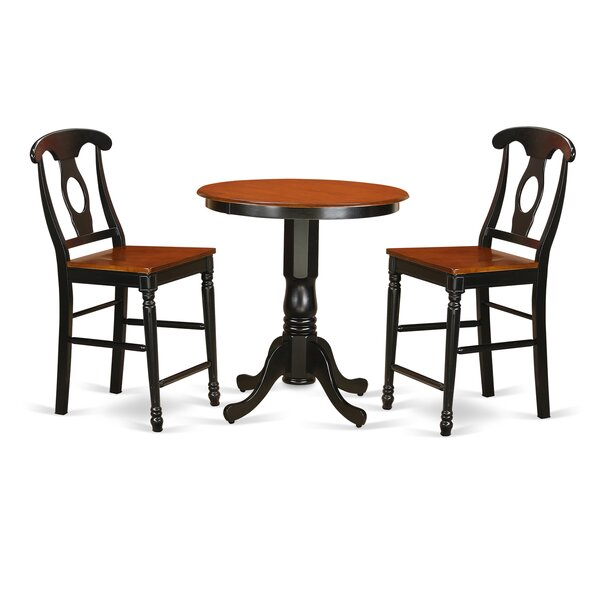 Smithson 3 Piece Counter Height Pub Table Set by Charlton Home Charlton Home