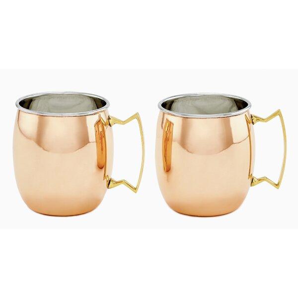 16 oz. Moscow Mule Mug (Set of 2) by Old Dutch International