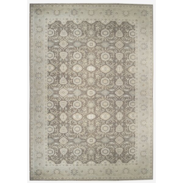 One-of-a-Kind Hand-Knotted Gray 10' x 14'2 Area Rug