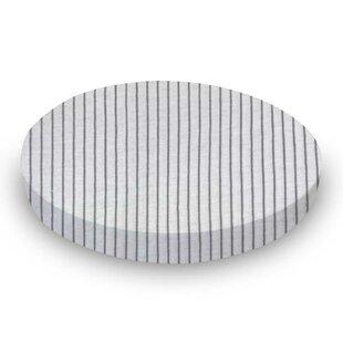Gray Pinstripe Jersey Knit Fitted Crib Sheet BySheetworld