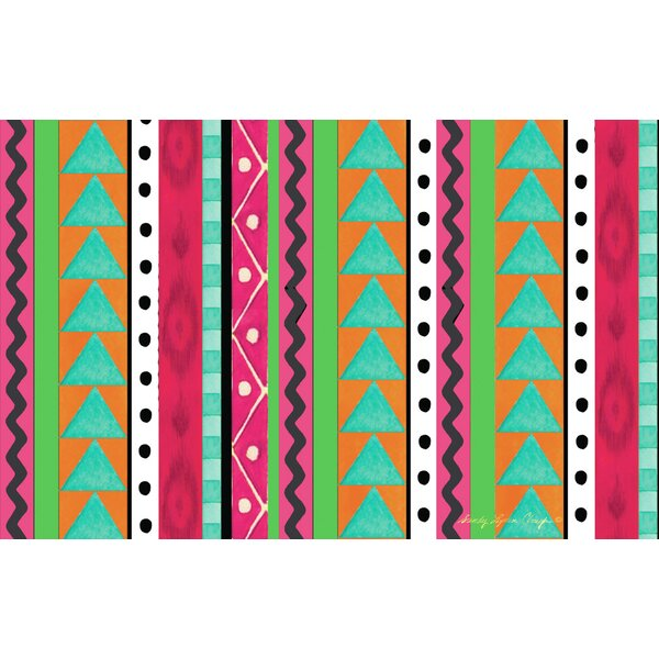 Boho Medallion Square Pink/Green Area Rug by Manual Woodworkers & Weavers