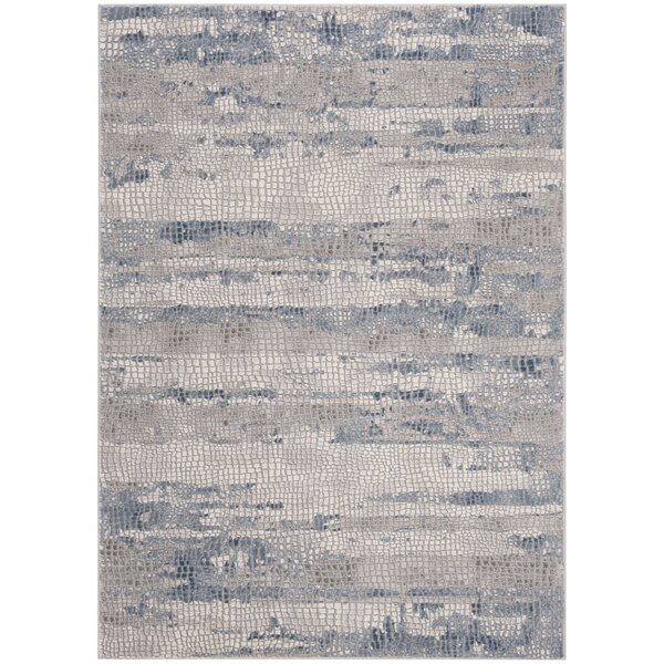 Wendi Gray/Navy Area Rug by Williston Forge