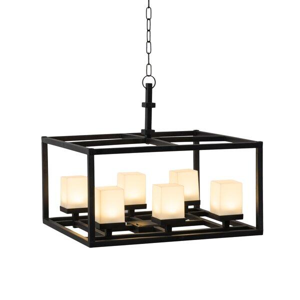 Ewenn 6 - Light Statement Rectangle LED Chandelier by Ebern Designs Ebern Designs