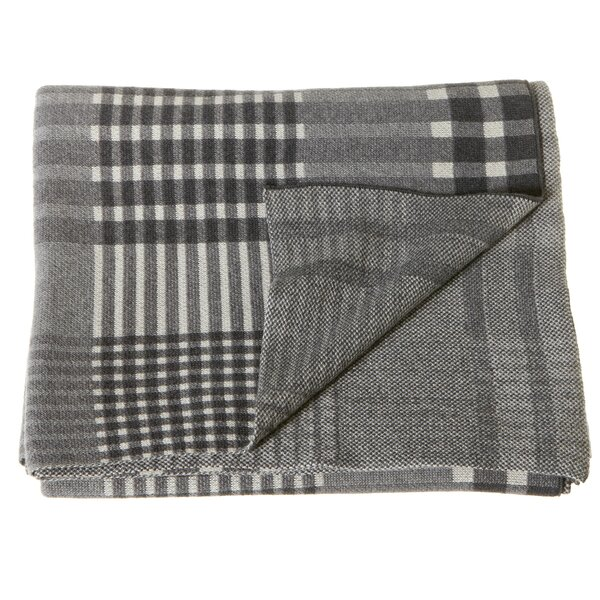 Pegram Plaid Knit Cotton Throw by Union Rustic