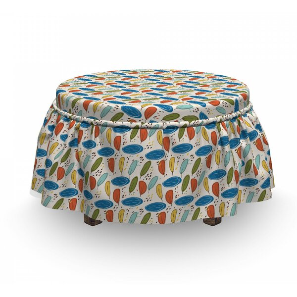 Ornamental Foliage Ottoman Slipcover (Set Of 2) By East Urban Home