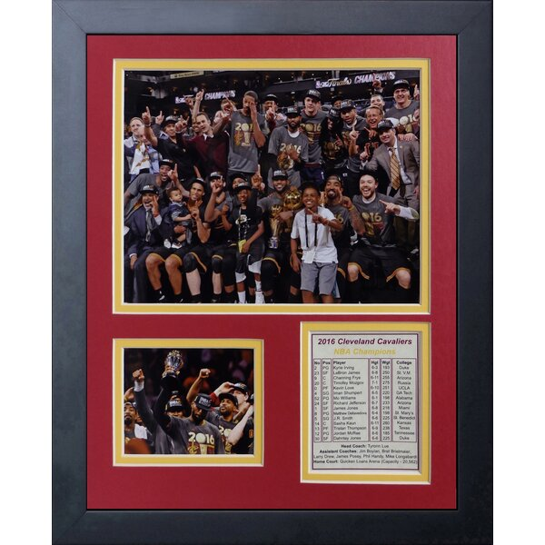 2016 Cleveland Cavaliers Championship Podium Celebration Photo Collage Wall Décor by Legends Never Die