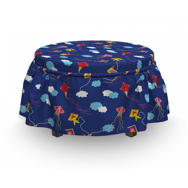 Eye Summer Toy Asia Ottoman Slipcover (Set Of 2) By East Urban Home