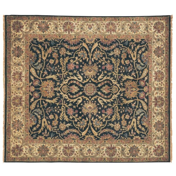 Polonaise Hand Knotted Wool Ivory/Brown Area Rug by Exquisite Rugs