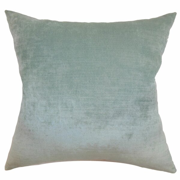 Haye Solid Silk Throw Pillow Cover by The Pillow Collection