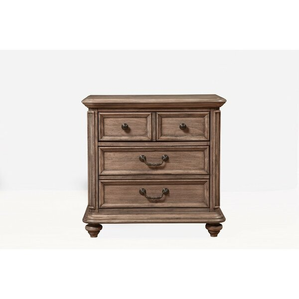 Slevin French Truffle 4 Drawer Nightstand By One Allium Way by One Allium Way Today Only Sale