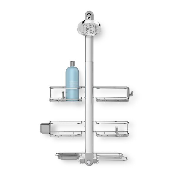 Adjustable Shower Caddy, Handheld Compatible, Stainless Steel + Anodized Aluminum by simplehuman