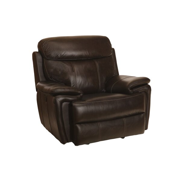 Goeltz Leather Power Recliner by Red Barrel Studio