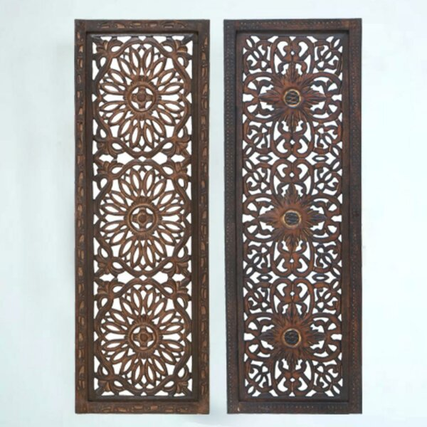 2 Piece Panel Wood Wall Décor Set (Set of 2) by Bungalow Rose