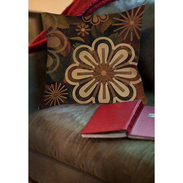 Floral Abstract II Printed Throw Pillow by Manual Woodworkers & Weavers